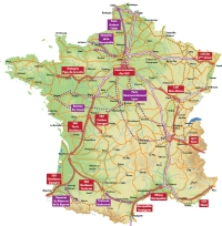 Carte Trains à grande vitesse France Normandie